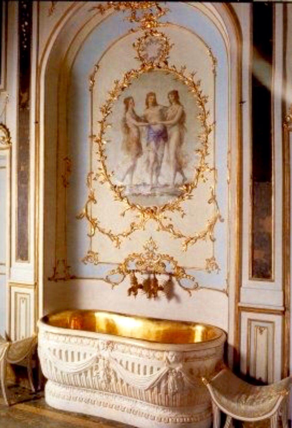 Baño De María Antonieta en Versalles   Interior de palacio ...