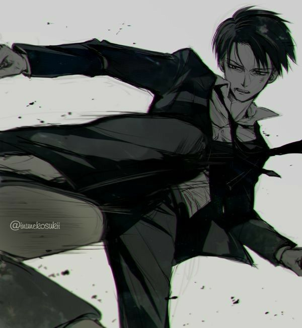 Levi Ackerman Kicking Suit Cool Attack On Titan Attack On Titan Levi Levi Ackerman Attack On Titan Anime