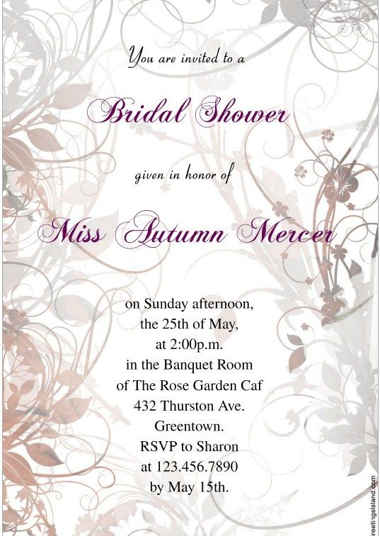 wedding shower flyer stationary templates pinterest template