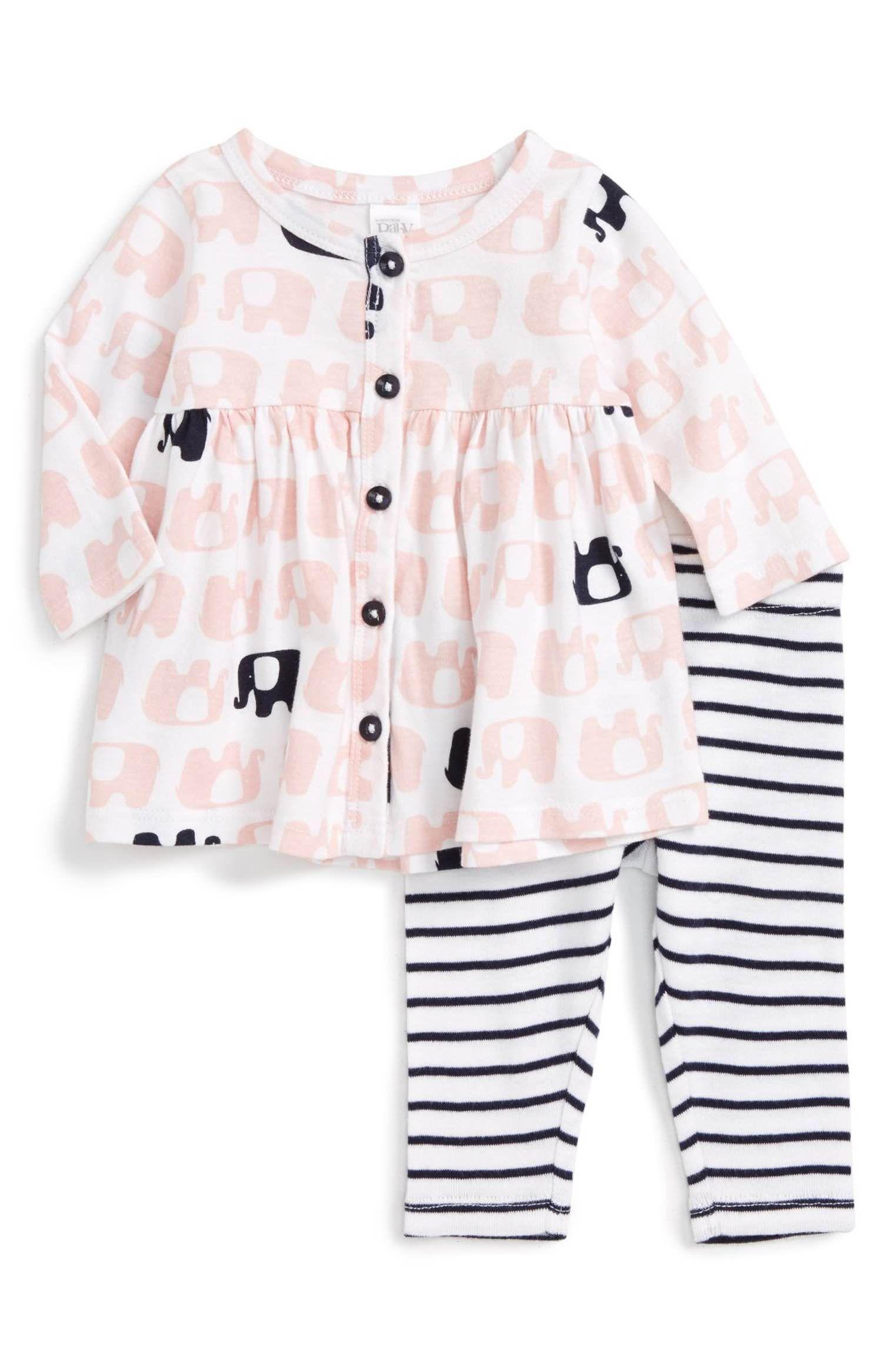 Dress & Leggings Set Baby Girls