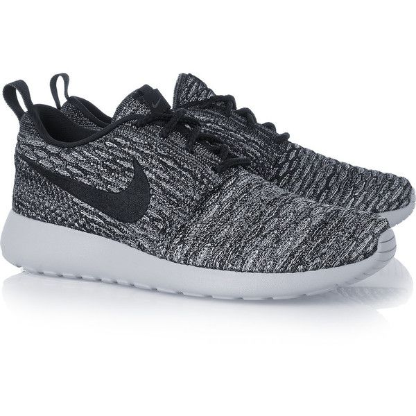 505e3869d65f1 Nike Roshe One Flyknit mesh sneakers (110 CAD) ❤ liked on Polyvore  featuring shoes