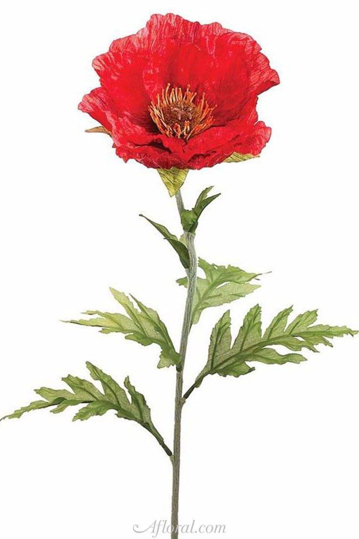 Silk poppy flower in red 28 silk poppy flower in red 28 tall mightylinksfo