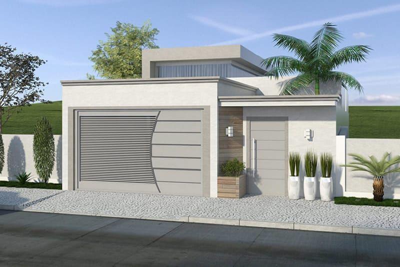 Plano de casa con alta techos de cristal  Proyectos que