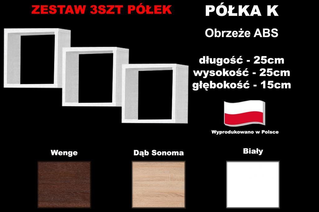 Polka K 25x25 Bialy Sonoma Wenge 3szt Producent 4992928322 Oficjalne Archiwum Allegro Polka Sonoma Gaming Logos