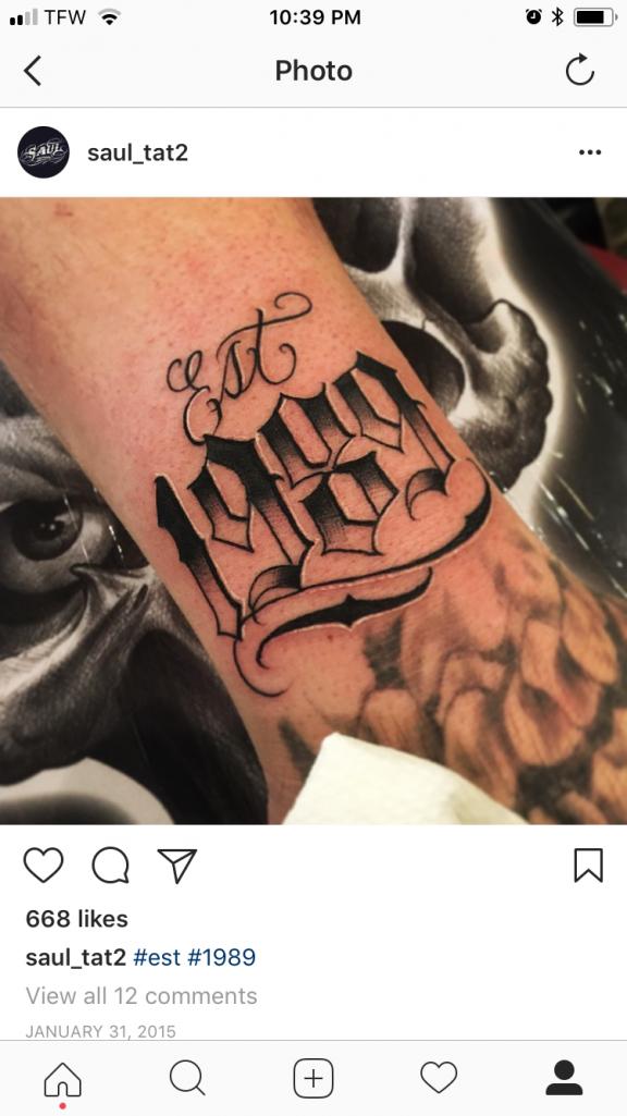 1993 Tattoo Designs : tattoo, designs, Numbers, Placement, #tattooplacement, #number, #tattoo, #placement, Number, Tattoos,, Tattoo, Lettering,, Chicano, Tattoos