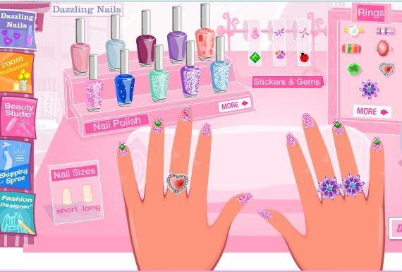 Barbie Nail Polish Games Hession Hairdressing