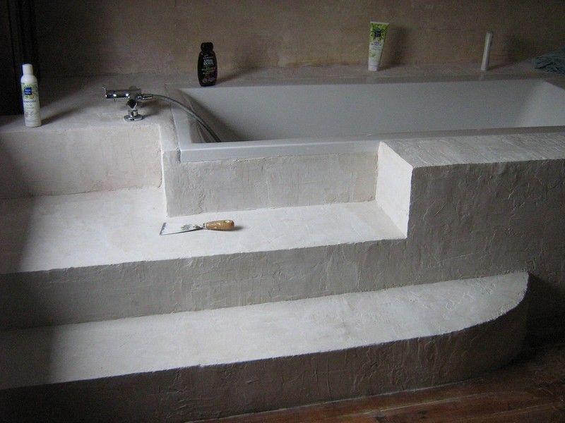 tablier de baignoire en blocs de beton cellulaire