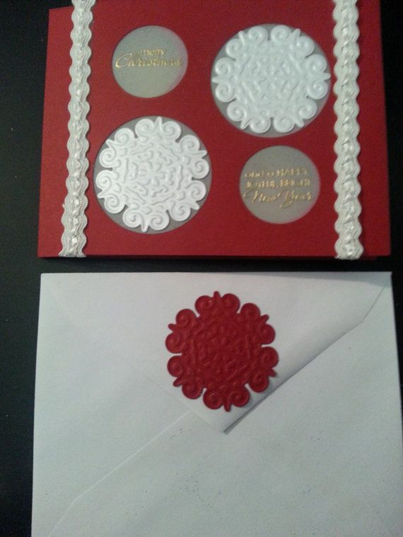 Check out this item in my Etsy shop https://www.etsy.com/listing/169805248/handmade-christmas-card-crimson-red