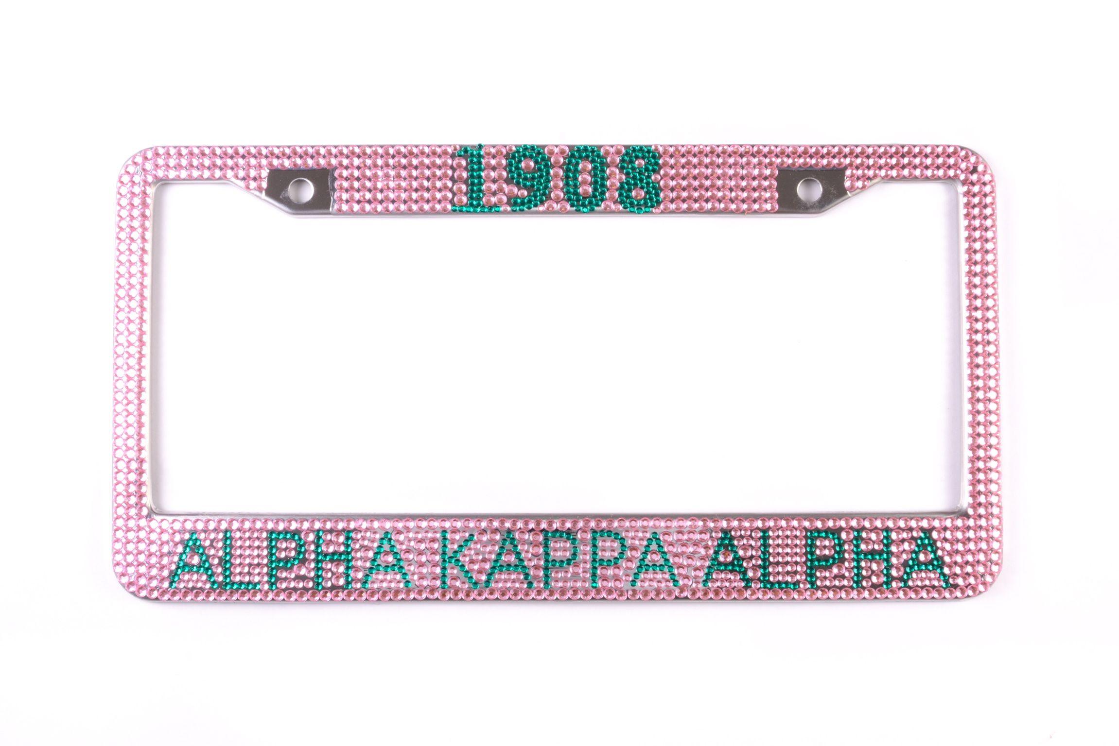 dd89a3ba6009 AKA Bling Crystal License Plate Frame | Alpha Kappa Alpha Sorority ...