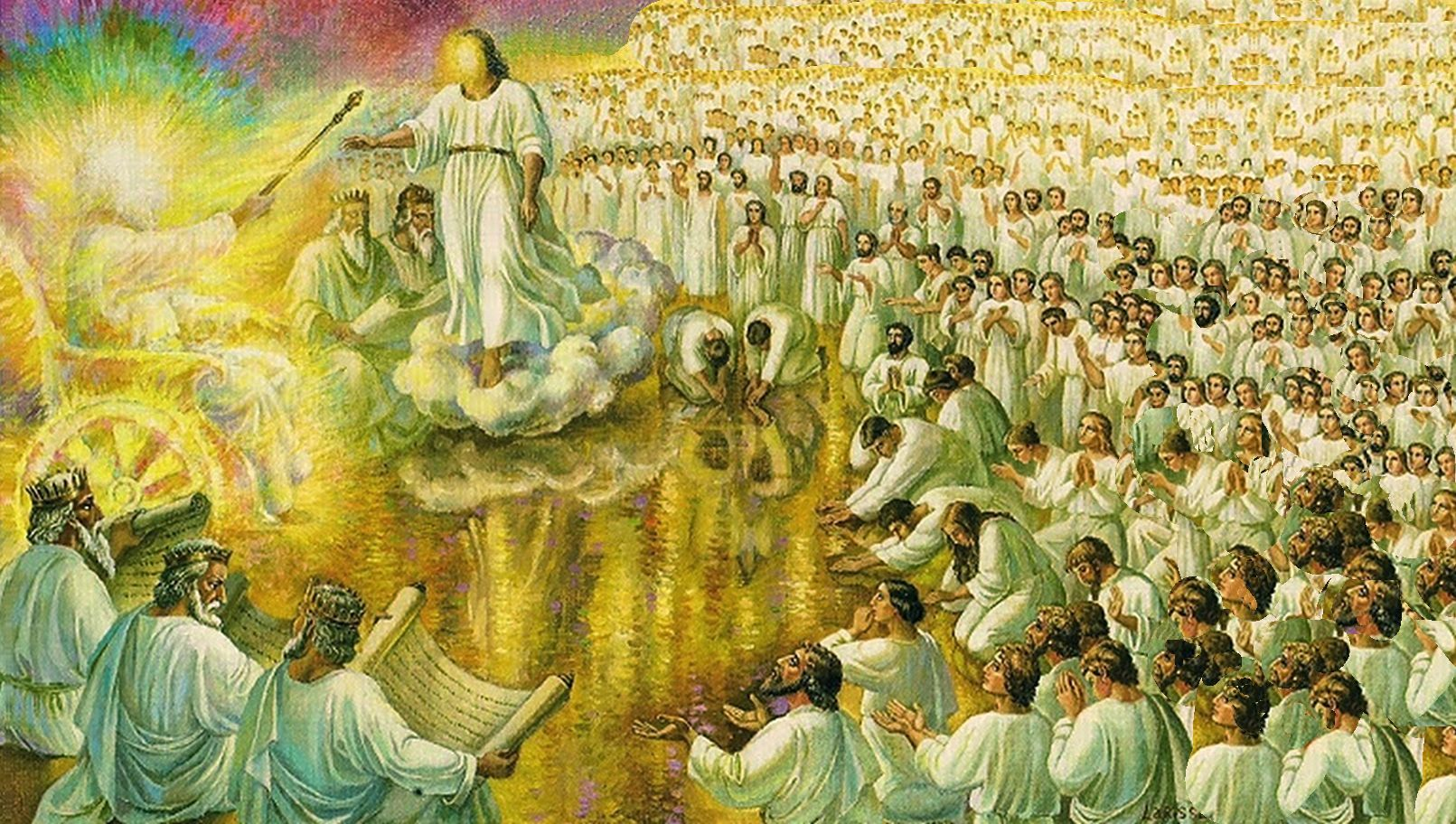 52 The lamb and the 144,000 standing before the throne Revelation