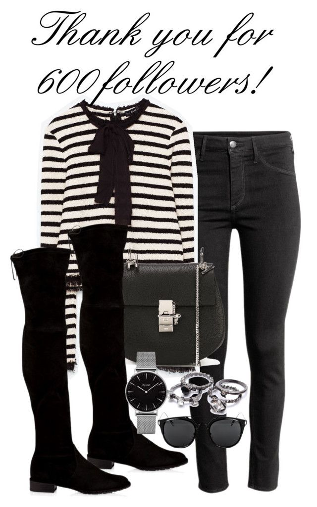 """Untitled #1349"" by ruhika29 ❤ liked on Polyvore featuring H&M, Chloé, Stuart Weitzman and Topshop"