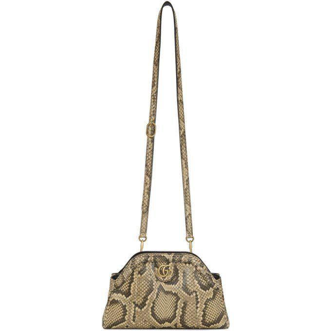 d4731ee1da3d Gucci Yellow Python Rebelle Shoulder Bag   Handbag & Wallet Fashions ...