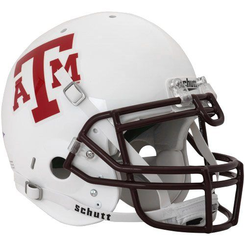 Schutt Texas A Aggies Full Size Authentic Football Helmet White Football Helmets Helmet Texas A M