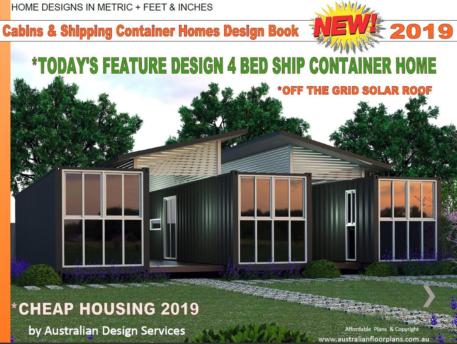 Shipping Container House Plan Book Small Houses Cabins Etsy Shipping Container Home Designs Container House Plans Shipping Container House Plans
