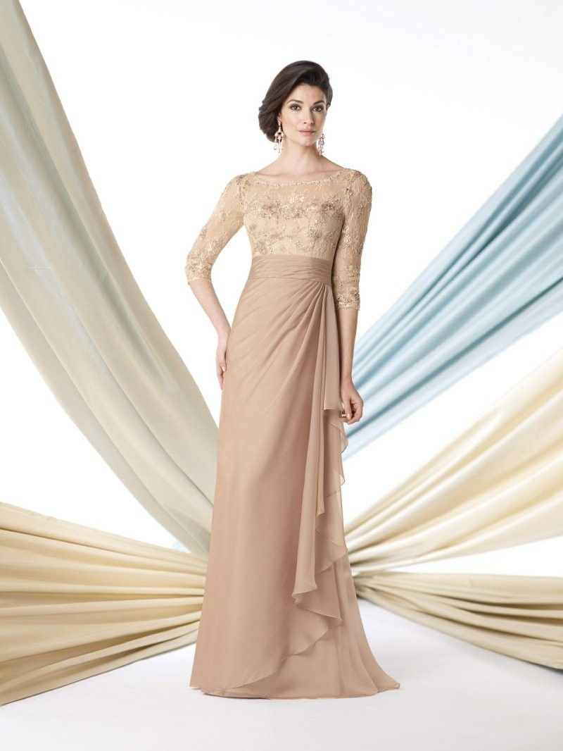 Charming Illusion Coral Chiffon Mother Of The Bride Dress | Mother ...