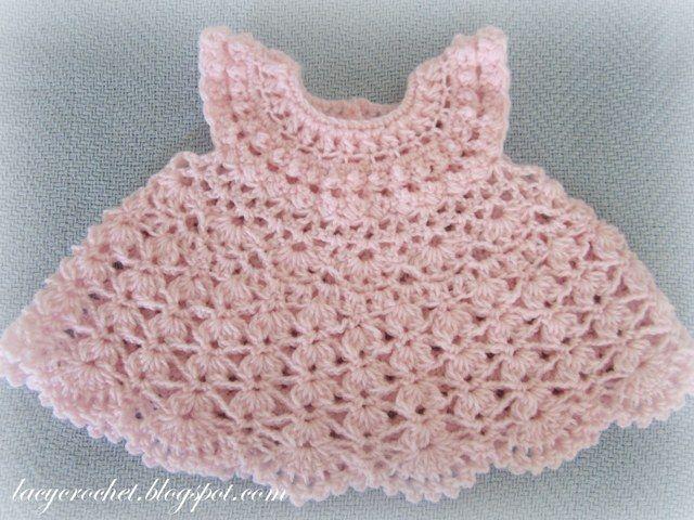 Free Crochet Baby Christmas Dress | fellow crocheter and blogging ...