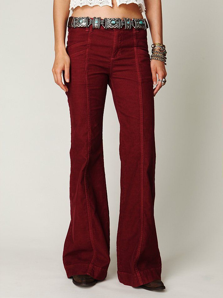 70s Cord Wideleg Pants Awesome