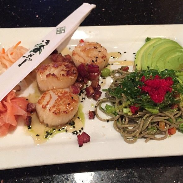 Kramerbooks & Afterwords: Bookstore and Cafe - Pan-Seared Scallops W/Honey & Bacon - Foodspotting