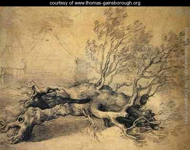 Image result for gainsborough fallen tree