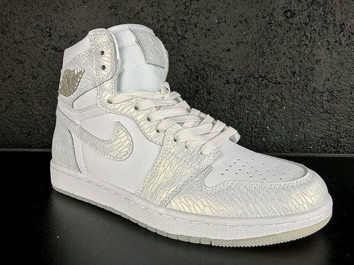 Authentic Air Jordan 1 Re HI OG Laser BG Pure White Basketball Shoe
