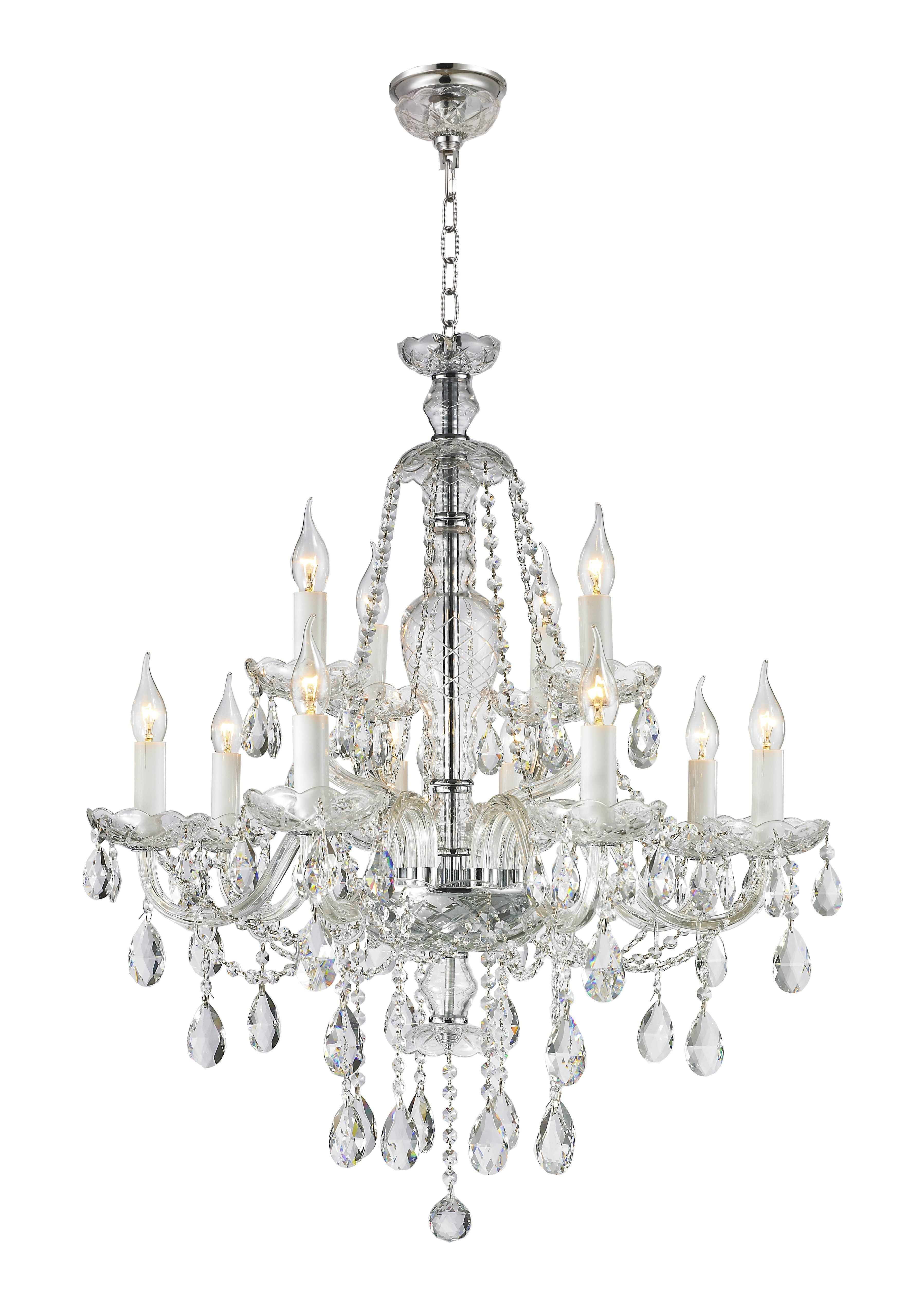 Bohemian Brilliance 12 Arm Crystal Chandelier Chrome Crystal Chandelier Chrome Chandeliers Chandelier