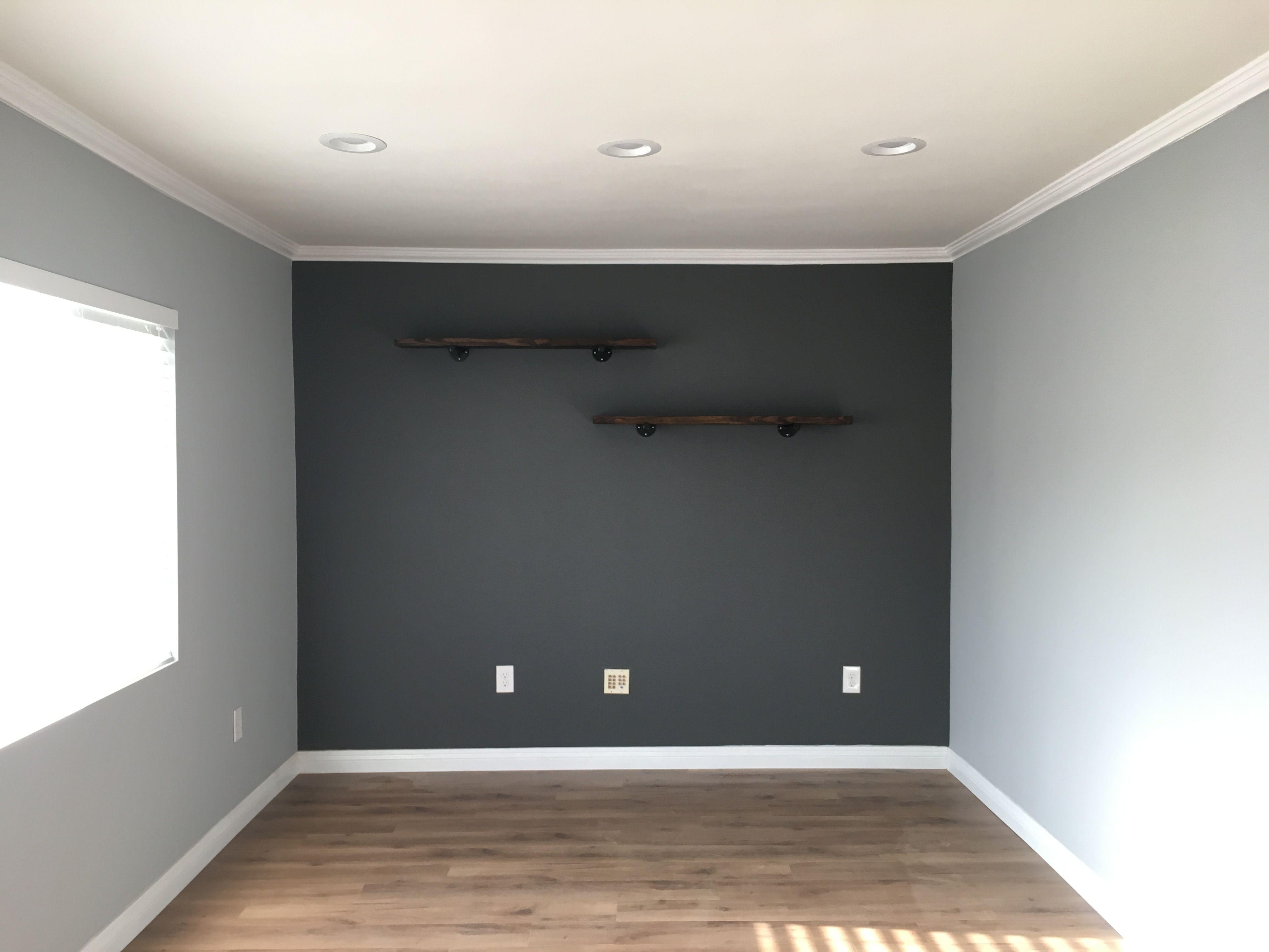 Pin By Kara On Bedroom Ideas In 2020 Dark Grey Walls Grey Accent Wall Light Grey Walls