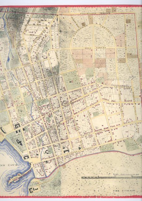 Australia Map 1850.Map Of Hobart Town Circa 1850 Showing Hunters Street And Hunters