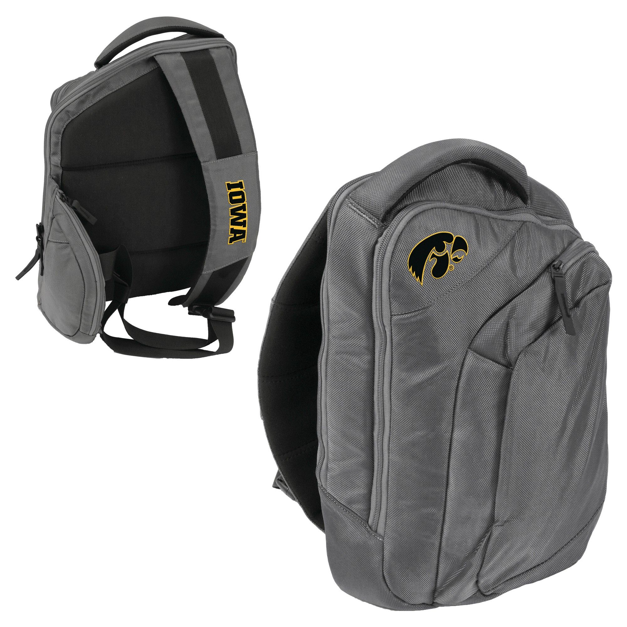 huge selection of b2c61 fd1b2 Logo Brands 12 NCAA Game Changer Sling Backpack - Iowa Hawkeyes