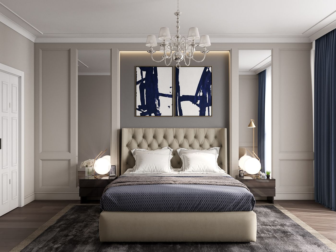 modern classics in the interior on behance modern on home interior design bedroom id=84228