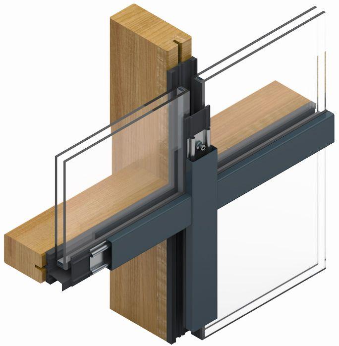 Direktverschraubung Holz Pfosten riegel fassade, Fassade
