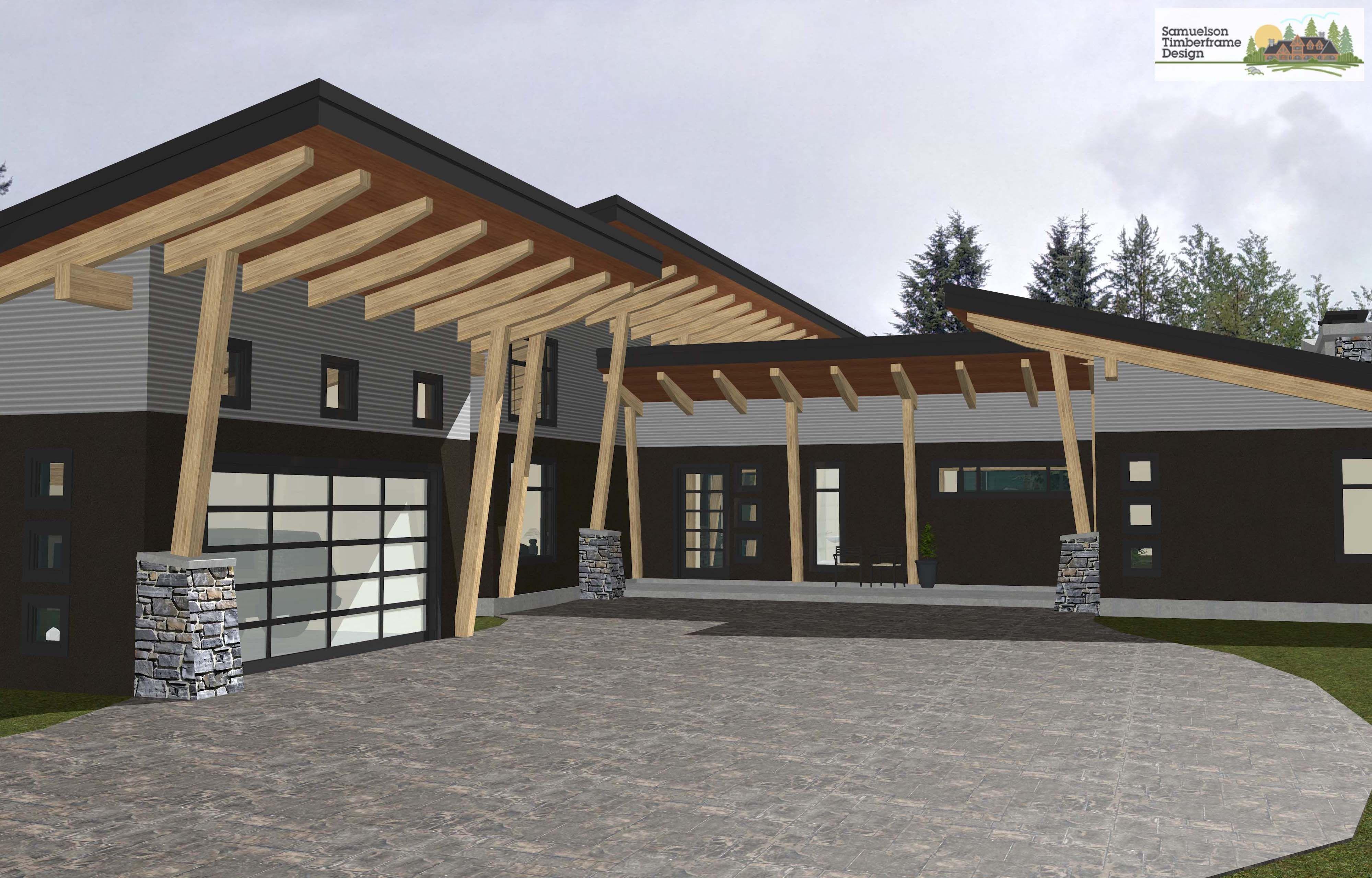 Samuelson Timberframe Design West Coast Contemporary Timberframe