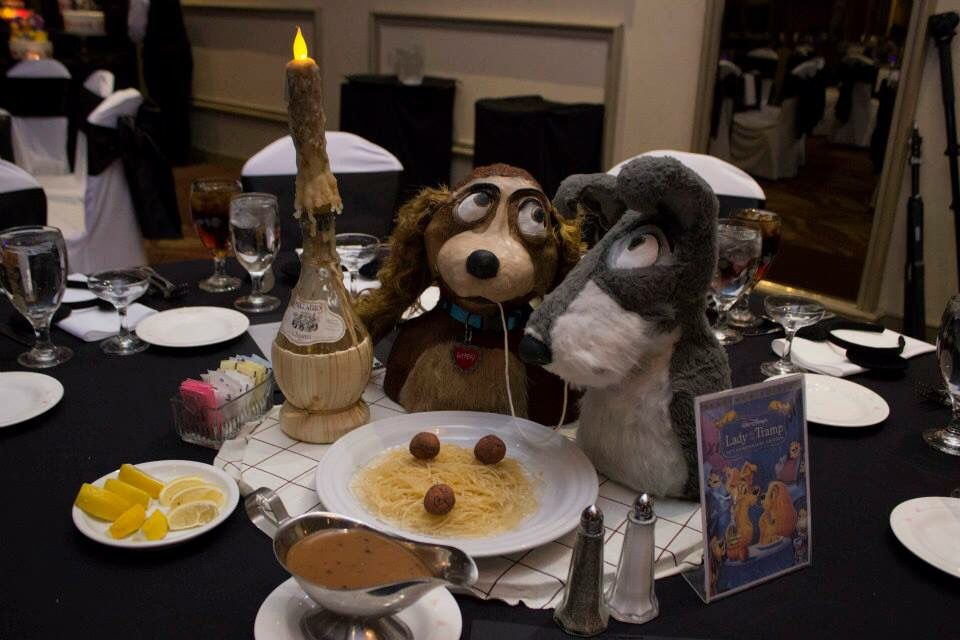 Lady And The Tramp Centerpiece Disney Theme Disney Theme Centerpieces Party Planning