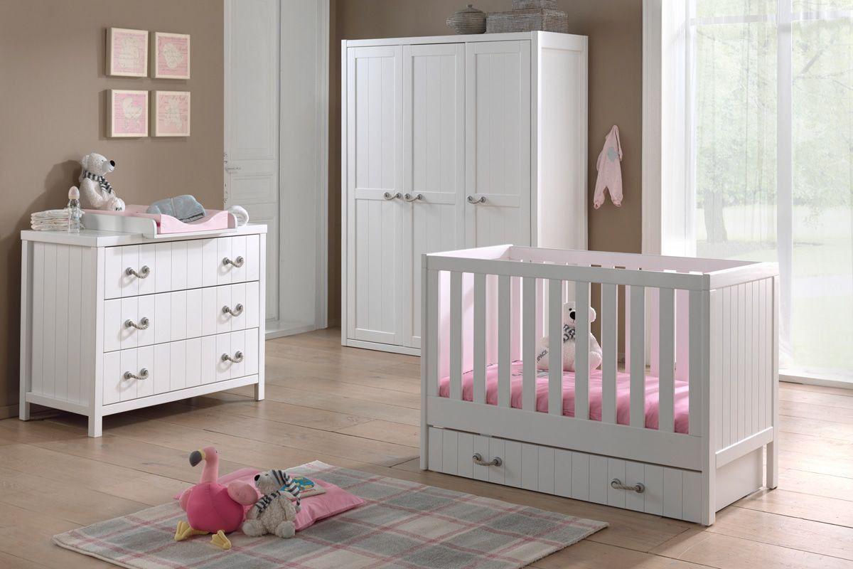 Ensemble complet 5 pièces pour chambre bébé avec lit à barreaux ...