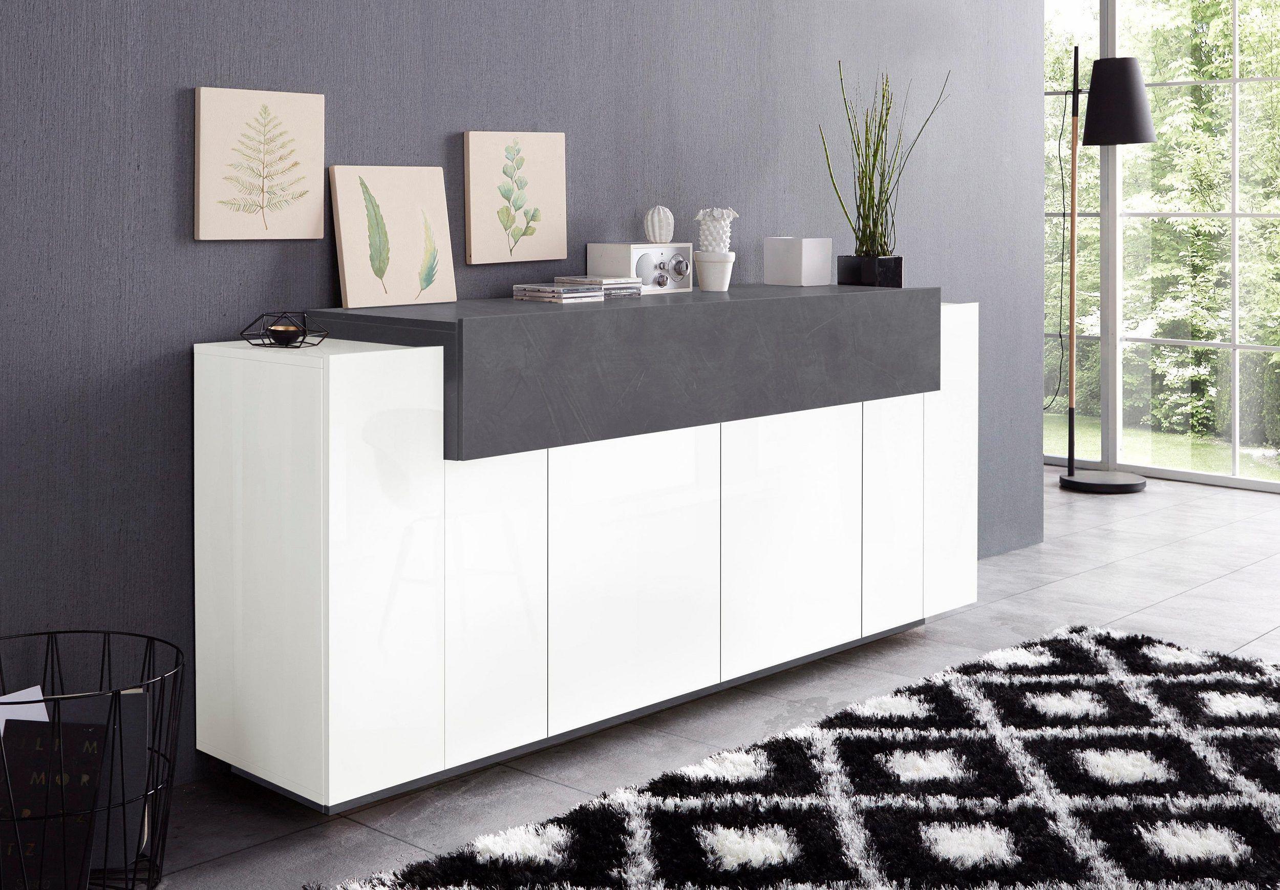 Tecnos Sideboard »Asia«, Breite 200 cm | Einrichtungsstile, Zement ...