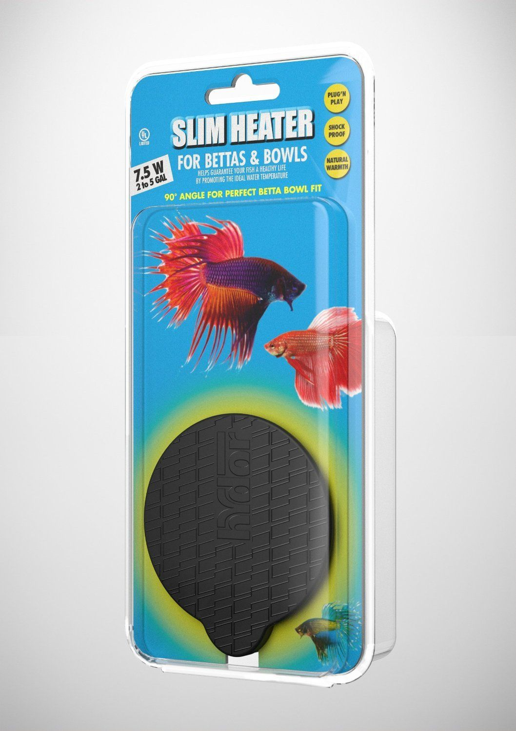 Hydor 7 5w Slim Heater For Bettas And Bowls 2 To 5 Gal