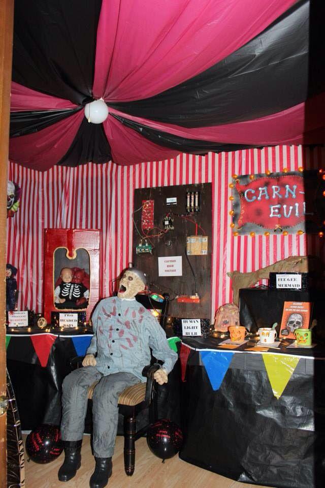 Freak show tent in CarnEvil party. Halloween CubicleHalloween Circus Halloween 2018Halloween Party IdeasHalloween DecorationsHalloween ... & Freak show tent in CarnEvil party   My own decorations   Pinterest ...