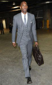 Kobe Bryant walking to the locker. As good as he looks, how much time does he really have left?