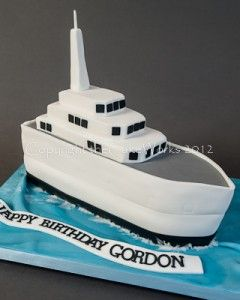 Amazing Ship Shaped Birthday Cake Hms Gordon With Images Boat Cake Funny Birthday Cards Online Inifofree Goldxyz