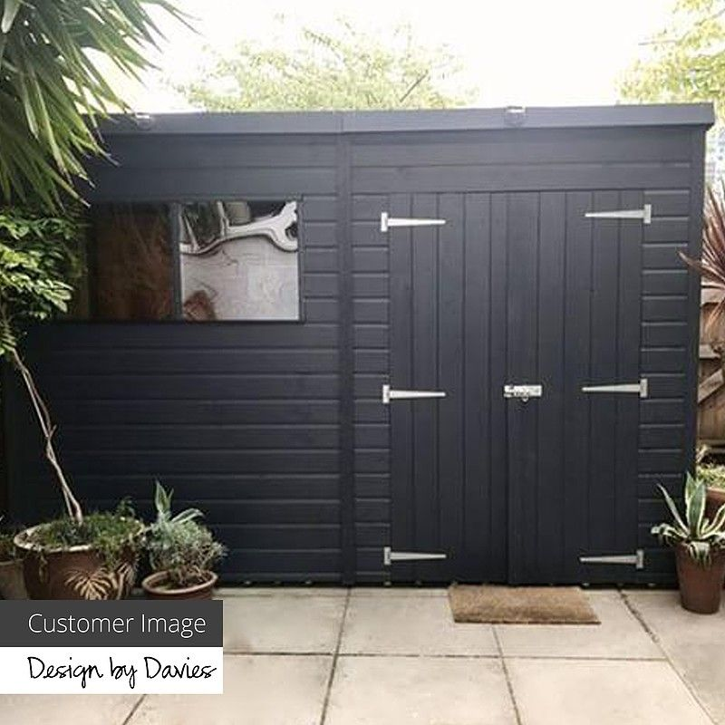 10 X 7 Pressure Treated Tongue And Groove Pent Shed Garden Storage Shed Painted Shed Building A Shed