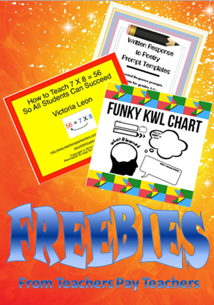 Three FREE Teachers Pay Teachers resources -modern version of a KWL chart -multiplication trick -poetry prompt templates