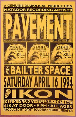 Concert Posters Tulsa Poster Project Archive of Tulsa area Concert  Posters Handbills and Flyers