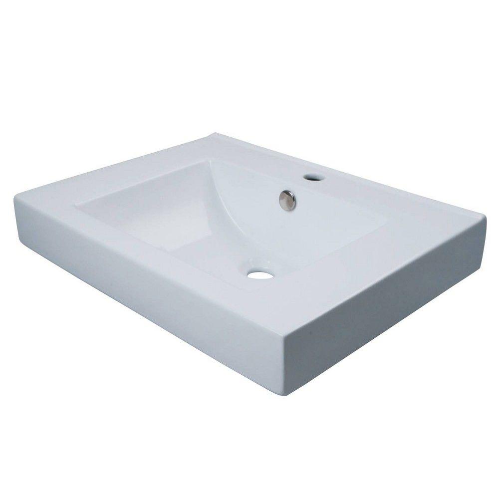 Wall Mount Table Mount Bathroom Sink Kingston Brass In 2021 Wall Mounted Bathroom Sinks Wall Mounted Table Sink [ 1000 x 1000 Pixel ]