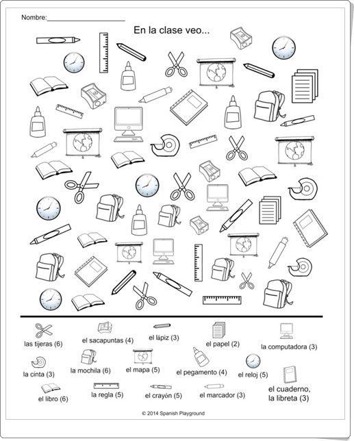 Objetos de clase atenci n y memoria pinterest la for 10 objetos en ingles del salon de clases