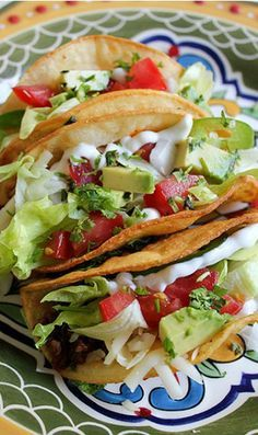 """American Style"" Ground Beef Tacos #groundbeeftacos"