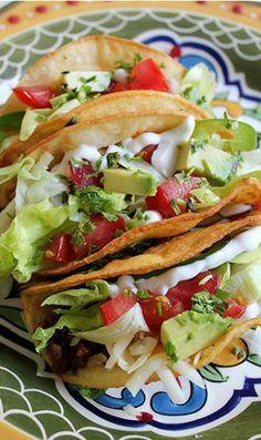 """American Style"" Ground Beef Tacos #groundbeeftacos"