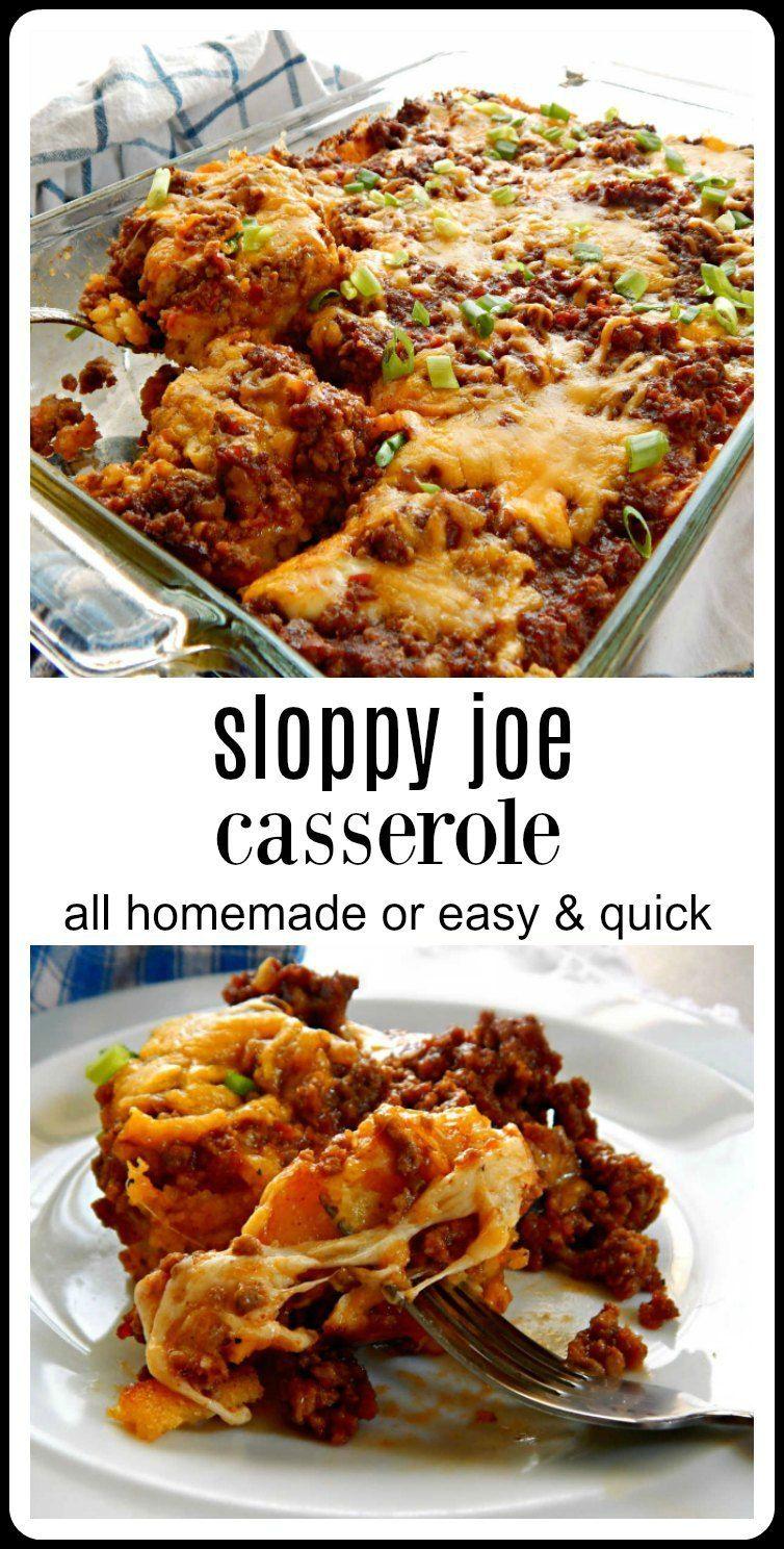 Sloppy Joe Casserole #homemadesloppyjoes