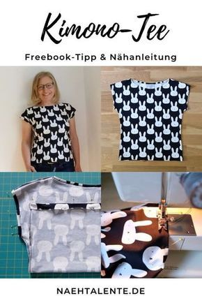 Kimono Tee Nähanleitung Deutsch - Maria Denmark Schnittmuster-Tipp ...
