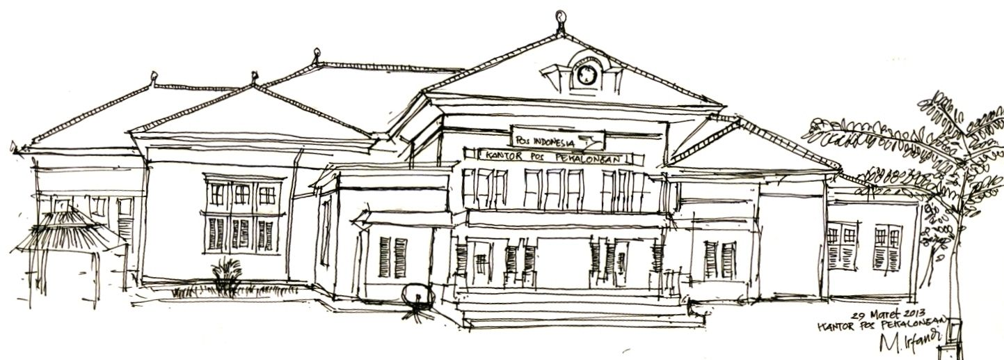 Kantor Pos Pekalongan Dalam Sketsa Sketsa Kantor Pos