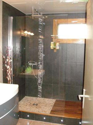 rfection de ma salle de bain sol de douche chang pour galets car le - Sol Salle De Bain En Teck
