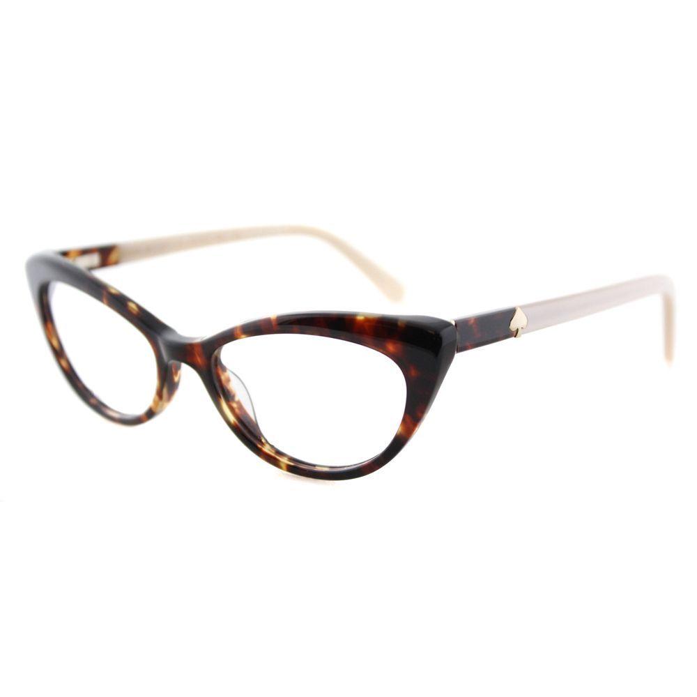 3f23e7a302e Kate Spade Analena Tortoise Brown 52-millimeter Plastic Cat-eye Eyeglasses  (Tortoise)